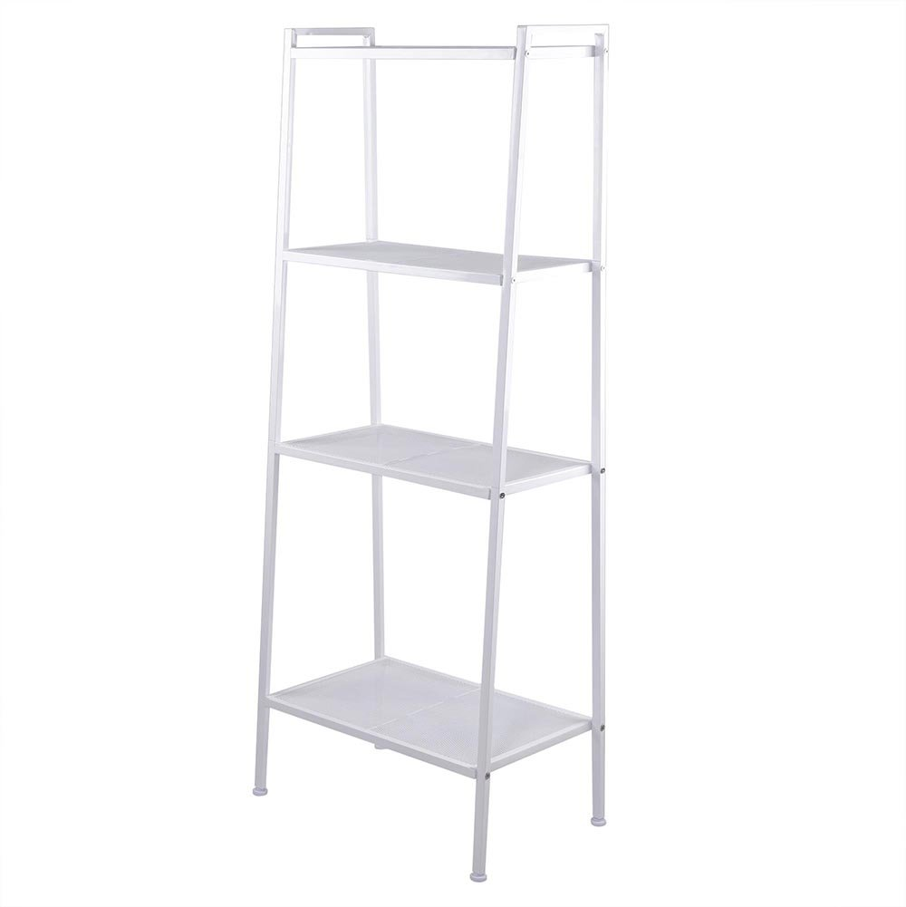Amazon.com: Yescom 4 Tier Metal Ladder Shelf Bookshelf Bookcase Leaning  Storage Rack A Frame Corner Display Plant Vertical White: Kitchen U0026 Dining