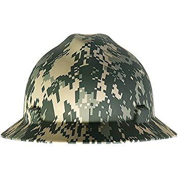 MSA Safety 10104254 American Freedom Series V-Gard Protective Hat with Fast Trac III Suspension, Camouflage