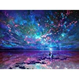 5D Diamond Painting Kits, DIY Rhinestone Embroidery Full Drill Cross Stitch Arts Craft for Home Wall Decor Starry Sky 12 x 16inch
