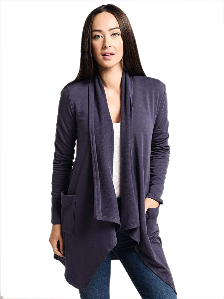 Image of Cardigans Beyond Yoga Cozy Fleece Everyday Drape Cardigan