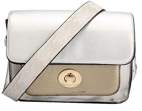 Plata Bolso Handbags Mujer De Girly Estilo Cartera Sintético Para Material aOTAq6