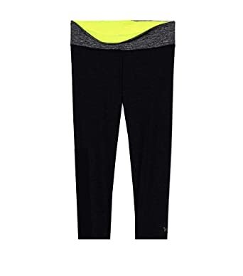 5b1fc5ed8b Image Unavailable. Image not available for. Color: Victoria's Secret Pink  Ultimate Yoga Crop Legging Black Reversible ...