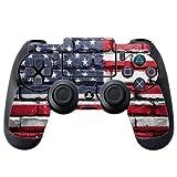 American Flag on Bricks Vintage Grunge PS4 DualShock4 Controller Vinyl Decal Sticker Skin by Moonlight Printing