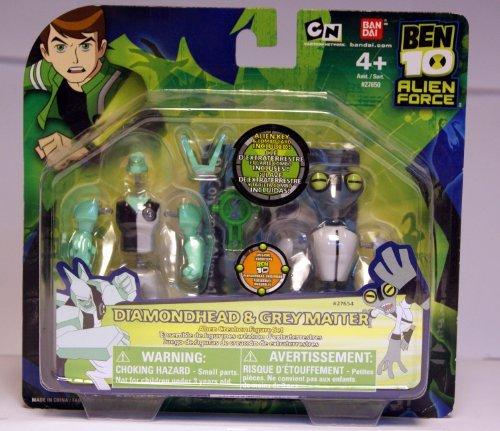 Ben 10 Alien Creation Chamber Mini Figure 2-Pack Diamondhead and Grey Matter