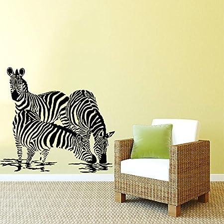 Wall Decals Zebra Animals Jungle Safari African Kids Children ...