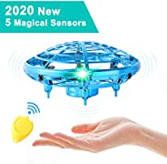 Mini UFO Drones for Kids Hand Operated Drones with 2 Speed, Flying Ball Drone Easy Indoor Outdoor Toys, Great Flying Drone T