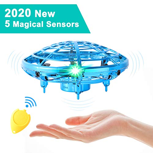 Flying Toys for Kids Mini UFO Drone Hand Operated Drones with 2 Speed, Flying Ball Drone Easy Indoor Outdoor Toys, Great Flying Drone Gift for Boys/Girls, USB Charging and Remote Controller