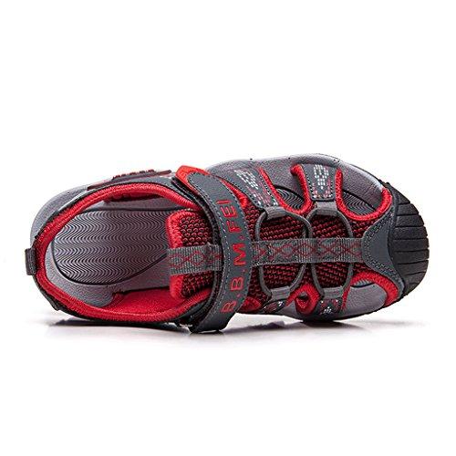 Husk'sware Peso ligero y transpirable Sandalias deportivas niño Unisex Chanclas de playa para niño Rojo