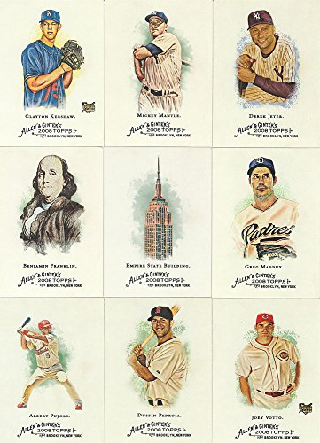2008 Topps Allen and Ginter Series MLB Baseball and Historical Figures Complete Mint 350 Card Set with Shortprints Featuring Clayton Kershaw Rookie Card from Topps