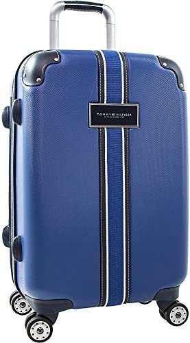 Tommy Hilfiger Classic Expandable Hardside Spinner Luggage, Royal Blue, 22 Inch