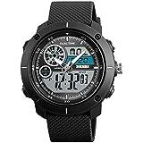 SKMEI Analog-Digital White Dial Men's Watch-1361 Black