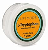 LiftMode L-Tryptophan 98+% Pure Bulk Powder - 5 Grams Sample (10 Servings at 500 mg) | #Top Bulk Supplement | For Sleep And Mood, For Cats, Dogs, Kids | Also To Dose in 1000mg, 1500mg | Vegan, Non-GMO