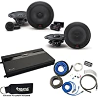 Alpine R-S65C 6.5 Component Speakers, R-S65 6.5 Coaxial Speakers, MB Quart ZA2-1600.4 4-Channel Amp & Wire Kit