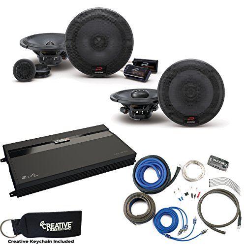"Alpine R-S65C 6.5"" Component Speakers, R-S65 6.5"" Coaxial Speakers, MB Quart ZA2-1600.4 4-Channel Amp & Wire Kit"