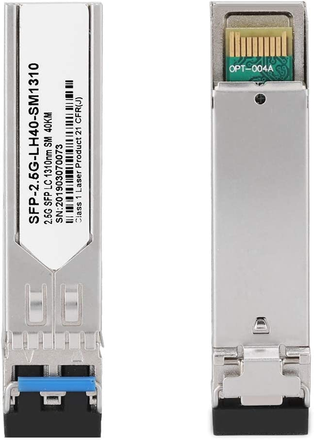 ASHATA Optical Module,SFP-2.5G-LH40-SM1310 40KM Optical Module,Gigabit Dual Fiber Transceiver Optical Module,Low Power Consumption,2.5G//sec Single Channel