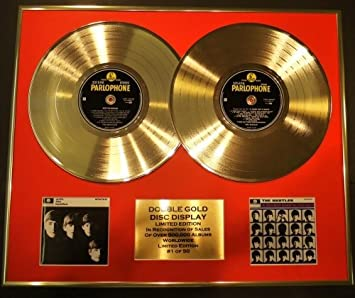 The Beatles Double Gold Vinyl Record Cd Display Limited Edition Coa The Beatles A Hard Day S Night With Küche Haushalt