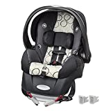 Evenflo Embrace Clay Infant Car Seat, Black/Grey/White