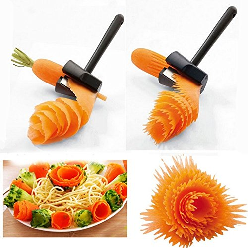 Bestwishes2u 1pc Fruits and vegetables roll flower tools / vegetable peeler / kitchen gadgets creative household items ,Stainless steel tools