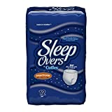 SleepOvers by Cuties, Large/X-Large, 60-125 lbs, 12 Count (Pack of 4)