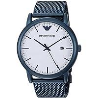 Emporio Armani Men's 'Luigi' Quartz Stainless-Steel-Plated Casual Watch, Color:Blue (Model: AR11025)