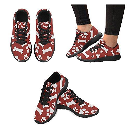 Scarpe Da Corsa Da Donna Winterprint Jogging Leggero Sportivo A Piedi Sneakers Atletiche Cane Zampa Rossa