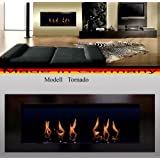 "BIO ETHANOL FIRE PLACE MODEL TORNADO (Black) by ""Fireplaces Manufacturer Mierzwa (DF-Shopping, Germany)"""