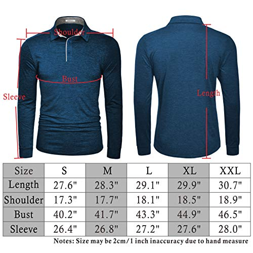 TAPULCO Fresca Mens Polo Shirts Dry Fit Performance Casual Athletic Stretch Golf T Shirts