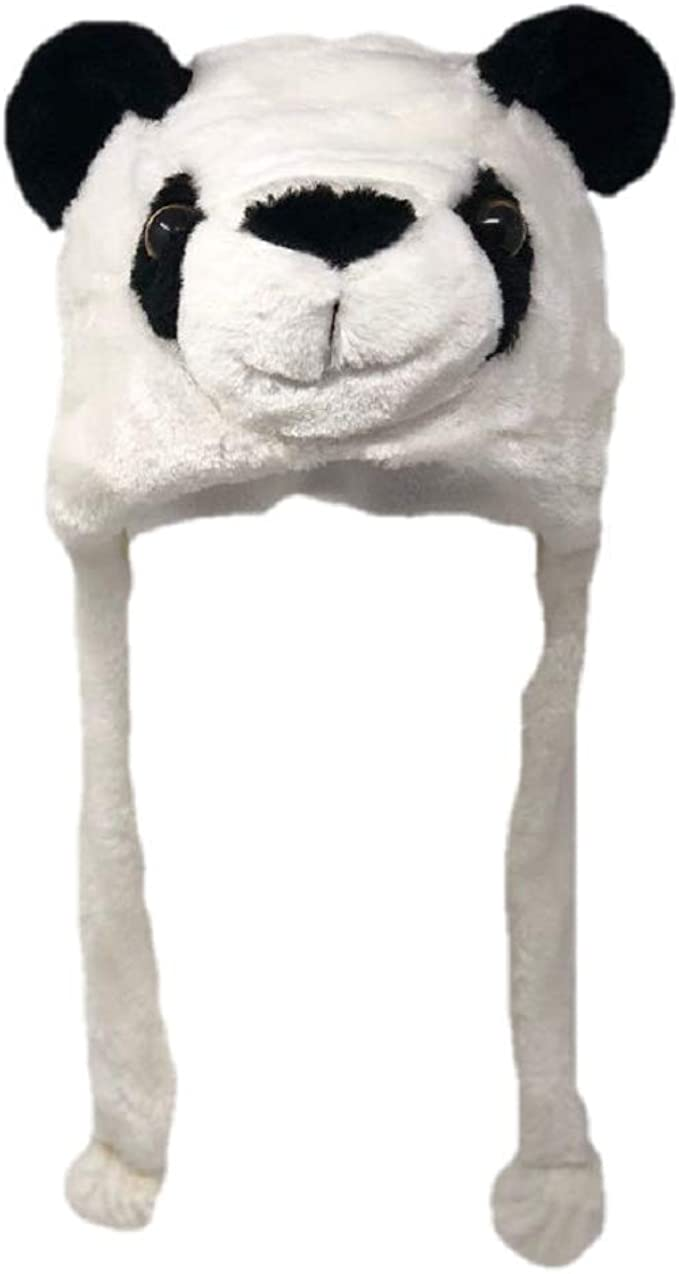 2018 Halloween Cute Warm Plush Black Panda Animal Hat Cap Cosplay Costume