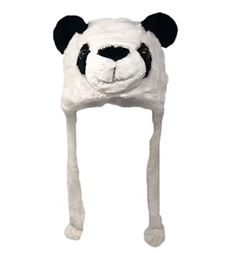 ae71b292aaacf2 Amazon.com: Plush Fun Animal Beanie Hat - One Size (Older Kids & Adults) -  Polyester w/Fleece Lining (Panda): Clothing