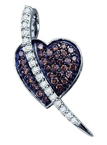 10 k or blanc diamant 0,53 Dwt Pavée-Pendentif or de haute qualité en or 9 carats