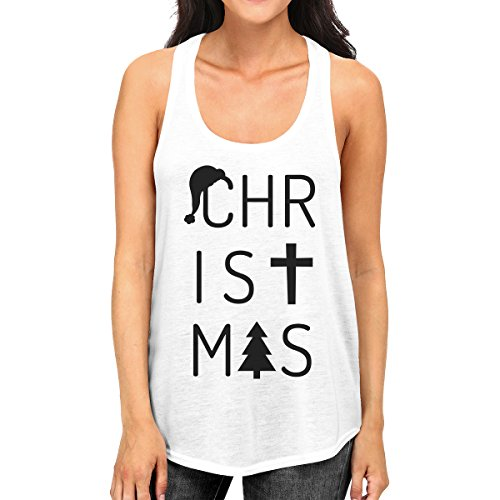 Sweater Christmas Letters Sleeveless One Printing Woman 365 Size qFE8YWa