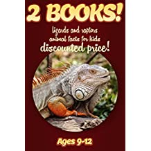 2 Bundled Books: Lizard & Raptor Facts For Kids Ages 9-12: Amazing Animal Facts And Pictures: Clouducated Red Series Nonfiction For Kids