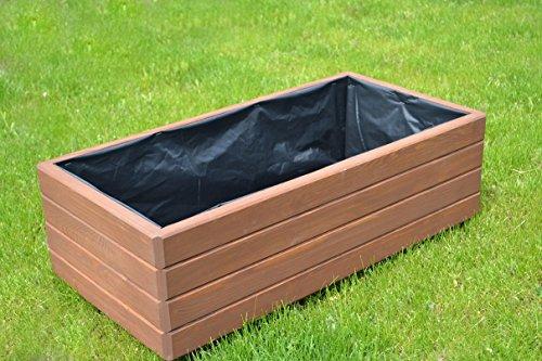 NEU Pflanzkasten aus Holz TOP Pflanzkübel Garten Terrasse fertig montiert D17 Dunkelbraun