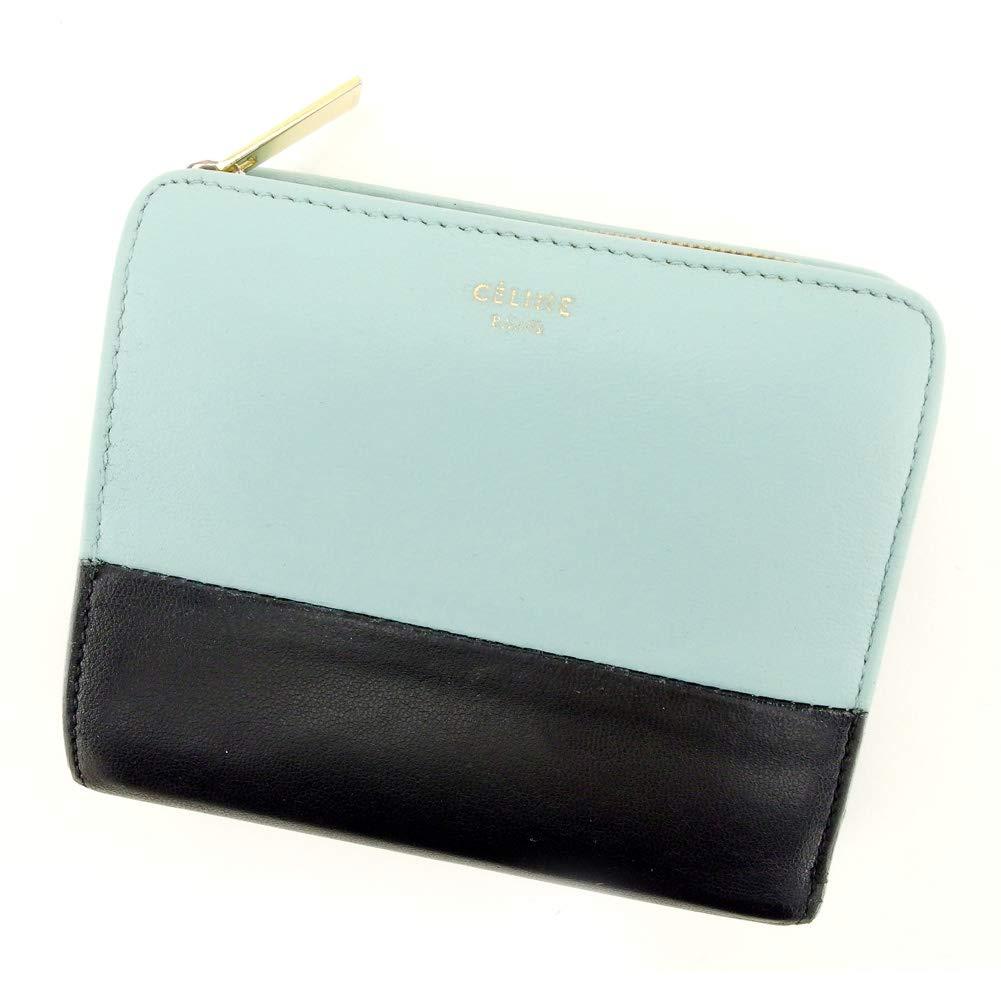 [セリーヌ] Celine 二つ折り 財布 財布 レディース メンズ バイカラー 中古 T9413   B07NRY35M3