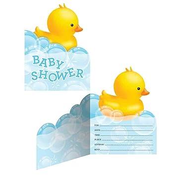 Amazon rubber ducky baby shower invitations kitchen dining rubber ducky baby shower invitations filmwisefo