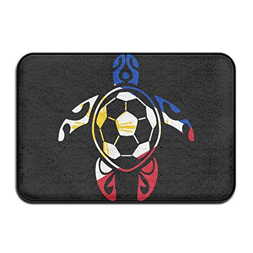 Youbah-01 Indoor/Outdoor Door Mats with Philippines Flag Soccer Sea Turtle Graphic Pattern for Kitchen Dining by Youbah-01