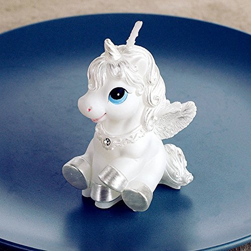 Price comparison product image Baby Birthday Candle Unicorn Cake Topper with Greeting Card in Gift Box