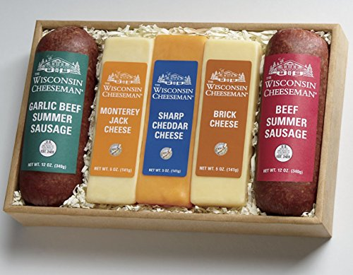 Cheese & Sausage Gift Box from Wisconsin Cheeseman