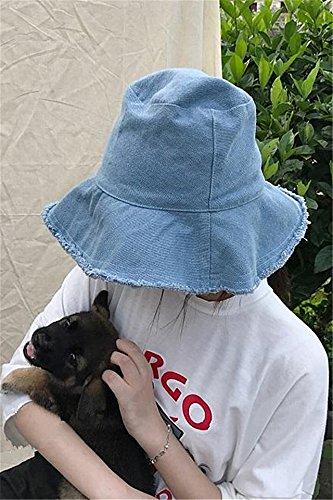 Generic ns cold wind brimmed cowboy hat cap basin cap cover torn edge Korean casual summer hat cap - Visor Torn
