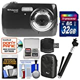 Polaroid iS126 16.1MP Digital Camera (Black) with 32GB Card + Case + Selfie Stick + Kit