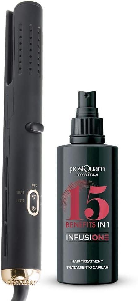 Postquam | Pack Plancha de Pelo Profesional Cyclone Air Cool Tech + Mascarilla para el Pelo Infussione 15 en 1