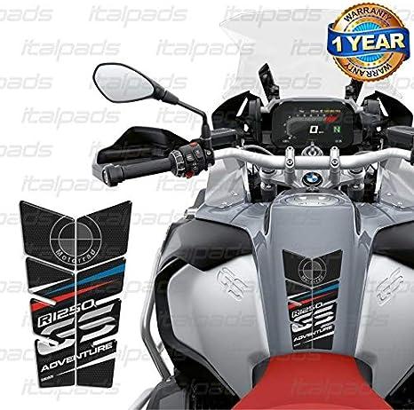 RESINATO EFFETTO 3D compatibile con BMW R1250 GS Black R 1250 PARASERBATOIO ADESIVO