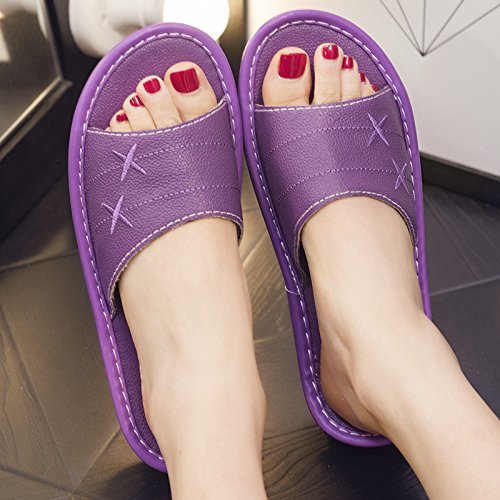anti and Slippers 37 home 38 fankou women couples and slippers floor home Purple slip summer Deodorization men interior zdWqf0wW