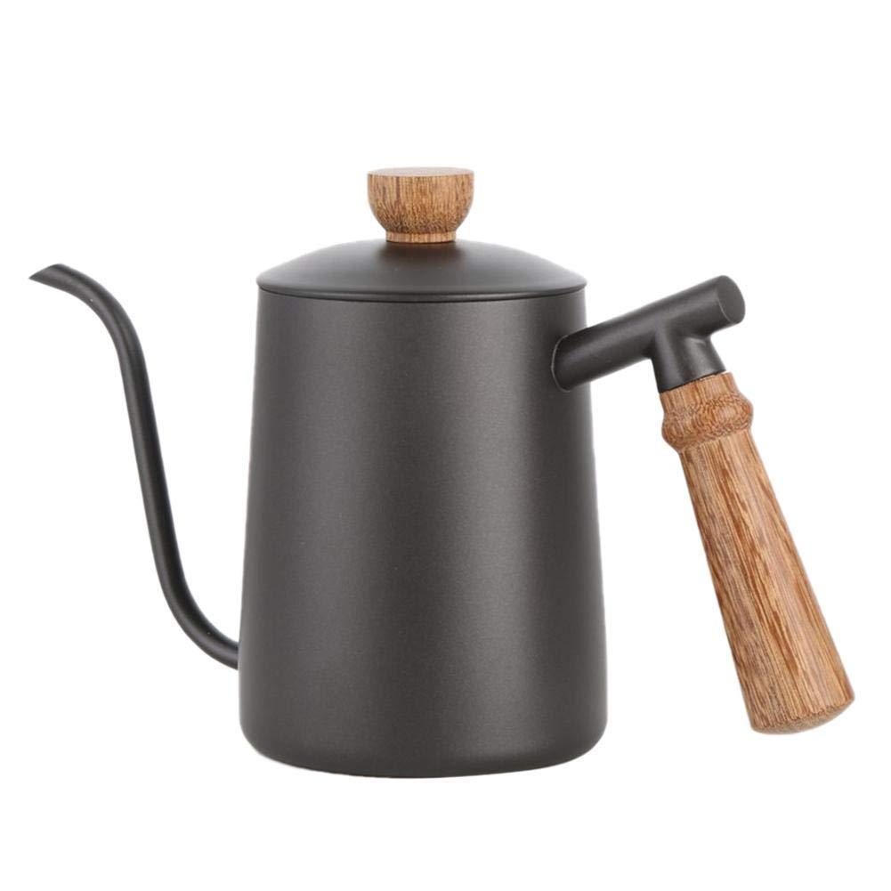 Acquisto Xploit 304 Acciaio Inossidabile Brewing Coffee Kettle Manico in Legno Caffettiera Bollitore con Canna Lunga 600ML Prezzi offerta