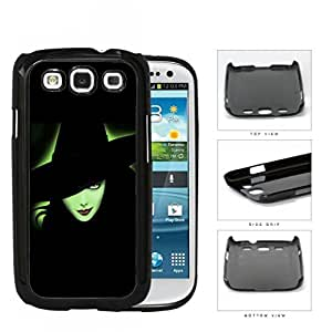 Halloween Green Witch Outline Glow Hard Plastic Snap On Cell Phone Case Samsung Galaxy S3 SIII I9300