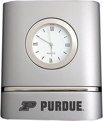 LXG, Inc. Purdue University- Two-Toned Desk Clock -Silver ()