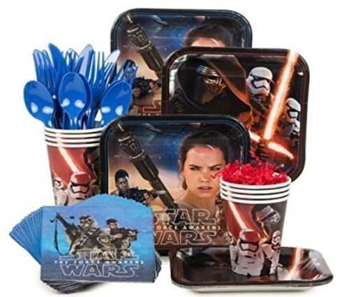 Star Wars Episode VII The Force Awakens Standard Party Supply Kit( Serves 8) Disney