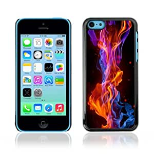 Designer Depo Hard Protection Case for Apple iPhone 5C / Cool Fire Flames