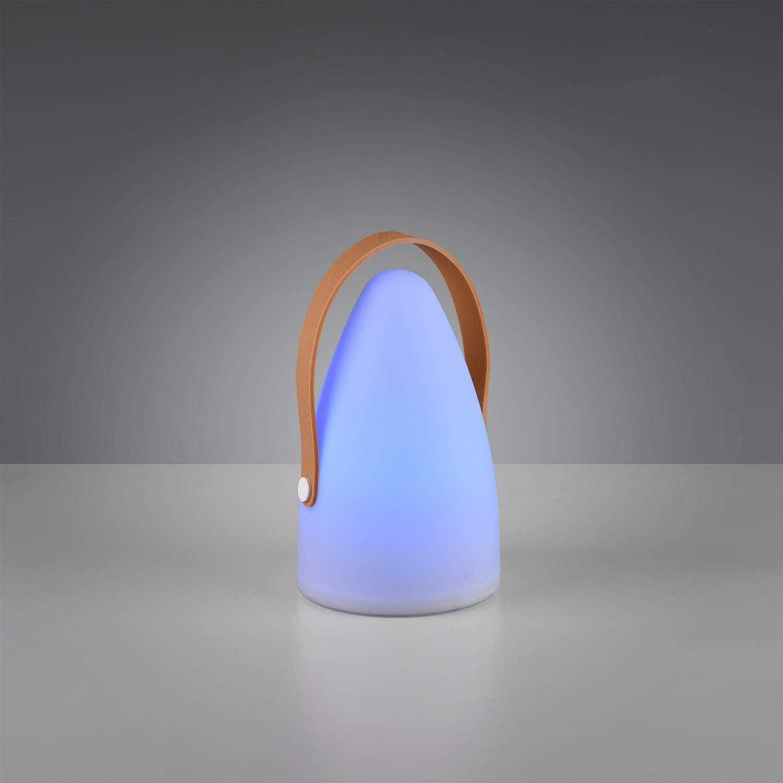 Kunststoff wei/ß 1 Watt RBG LED mit Farbwechsel Reality Leuchten LED Akku Au/ßen Tischleuchte Aruba R57080101 ink