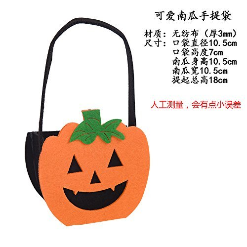 HOMEE Halloween Decorating Props Toys Disguised As Accessories Cellular Pumpkin Pouch Gift Bags Candy Pocket Cloth Bag, Hats Pumpkin Bag,Lovely by HOMEE